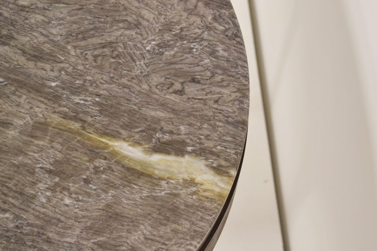 Spanish 'Button' Centre / Coffee Table in Italian Viola Marble For Sale