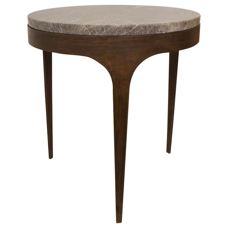 'Button' Centre / Coffee Table in Italian Viola Marble For Sale