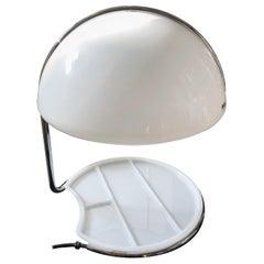 Buttura & Massoni for Harvey Guzzini Space Age Conchiglia Table Lamp, 1968