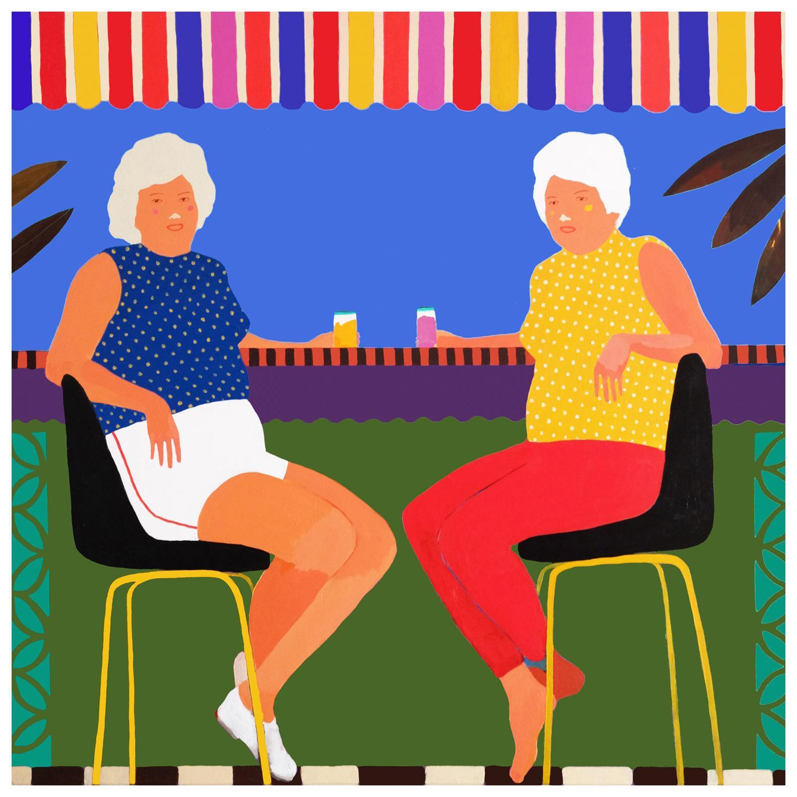 'Buy One Get One Free' Portrait Painting by Alan Fears Pop Art Figurative