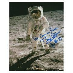 "Buzz Aldrin ""We Came in Peace"" Signed Apollo 11 Photograph"