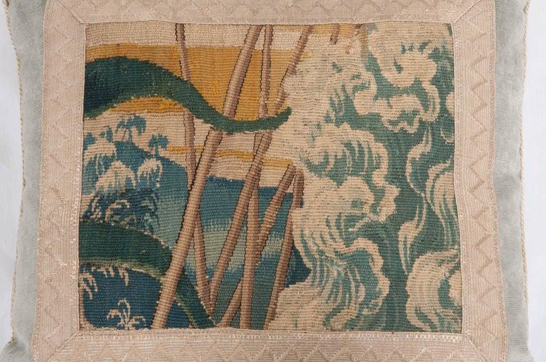European B.Viz Design Antique Tapestry Pillow For Sale