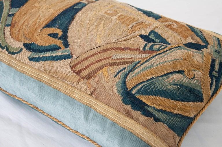 Gilt B.Viz Design Antique Tapestry Pillow For Sale