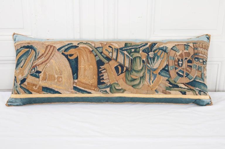 B.Viz Design Antique Tapestry Pillow In Good Condition For Sale In Baton Rouge, LA