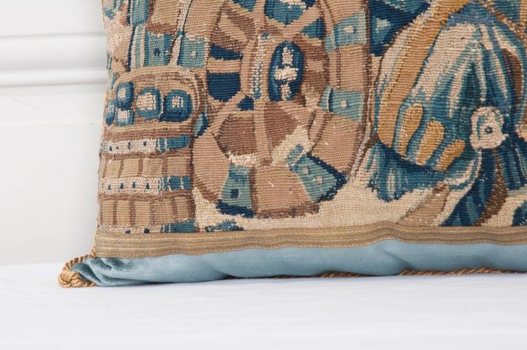 B.Viz Design Antique Tapestry Pillow For Sale 1