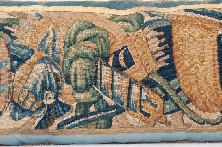 B.Viz Design Antique Tapestry Pillow For Sale 2