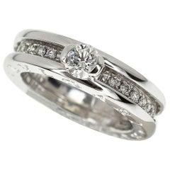 Bvlgari 0.30 Carat Solitaire Diamond 18 Karat White Gold B-Zero 1 Ring