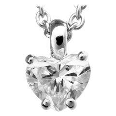 Bvlgari 1.09 Carat Diamond 18 Karat White Gold Griffe Pendant Necklace