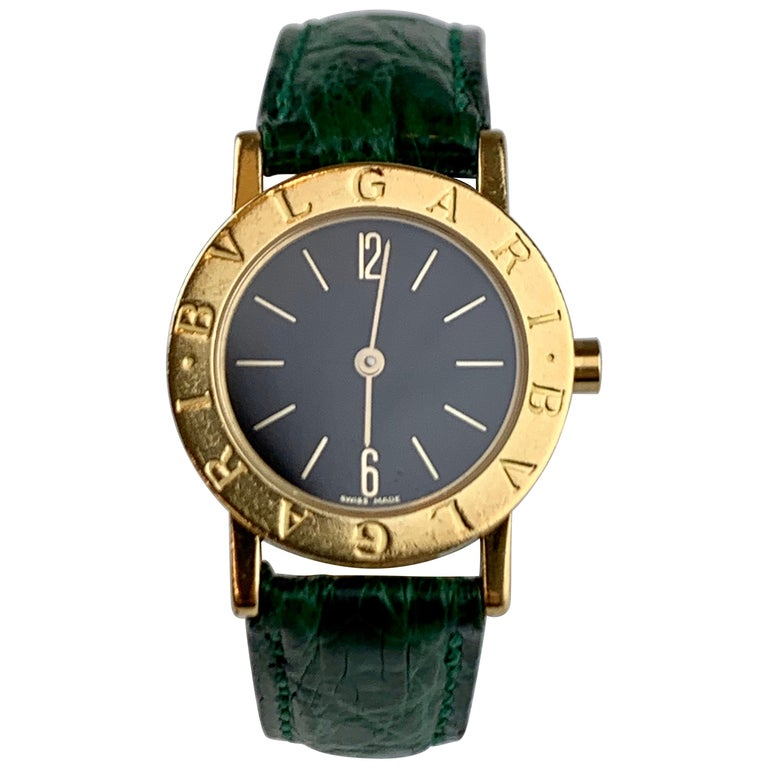 Bvlgari 18 Karat Gold BB 26 GL Watch For Sale
