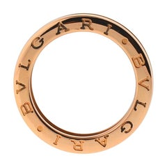 Bvlgari 18 Karat Rose Gold B. Zero1 One-Band Ring