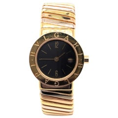 Bvlgari 18 Karat White and Yellow Gold Watch