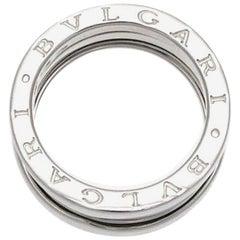 Bvlgari 18 Karat White Gold B-Zero 3-Row Band Ring