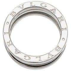 Bvlgari 18 Karat White Gold B-Zero 3 Row Band Ring