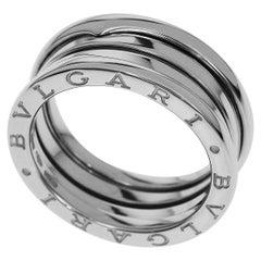 Bvlgari 18 Karat White Gold B-zero1 S 3 Band Ring
