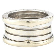 Bvlgari 18 Karat White Gold B.zero1 Four-Band Ring