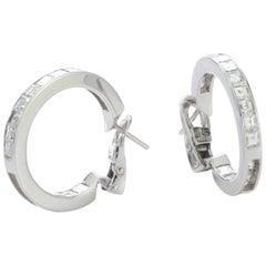 Bvlgari 18 Karat White Gold Diamond Clip-On Earrings