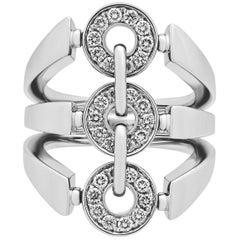 Bvlgari 18 Karat White Gold Diamond Ring