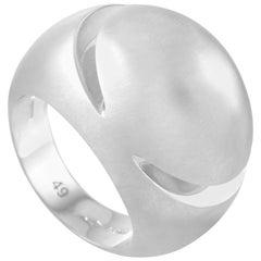 Bvlgari 18 Karat White Gold Ring
