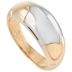 Bvlgari 18 Karat Yellow and White Gold Ring