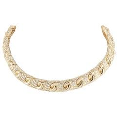 Bvlgari 18 Karat Yellow Gold 15.00 Carat Diamond Necklace