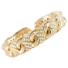 Bvlgari 18 Karat Yellow Gold, 8.00 Carat Diamond Bracelet