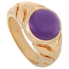 Bvlgari 18 Karat Yellow Gold Amethyst Ring