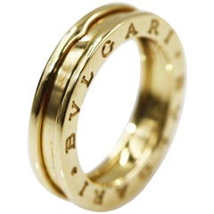 Bvlgari 18 Karat Yellow Gold Bzero-1 1 Band Ring