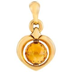 Bvlgari 18 Karat Yellow Gold Citrine Pendant