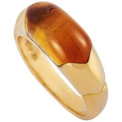 Bvlgari 18 Karat Yellow Gold Citrine Ring