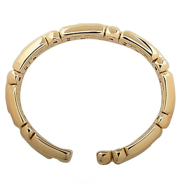 Modern Bvlgari 18 Karat Yellow Gold Cuff Bangle Bracelet For Sale