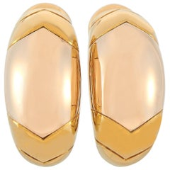 Bvlgari 18 Karat Yellow Gold Earrings