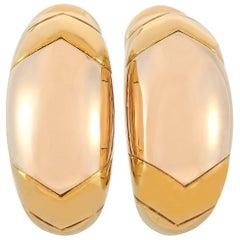 Bvlgari 18 Karat Yellow Gold Earrings