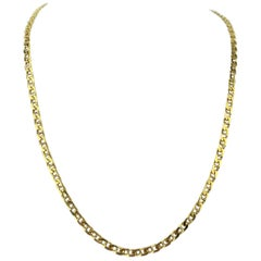 Bvlgari 18 Karat Yellow Gold Gucci Mariner Link Chain Necklace
