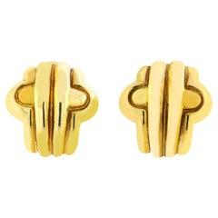 Bvlgari 18 Karat Yellow Gold Parentesi Earrings