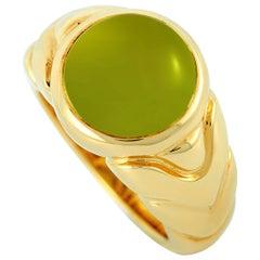 Bvlgari 18 Karat Yellow Gold Peridot Ring