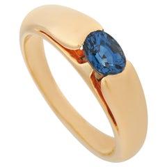 Bvlgari 18 Karat Yellow Gold Sapphire Ring
