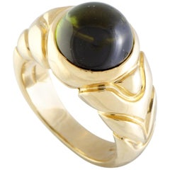 Bvlgari 18 Karat Yellow Gold Tourmaline Ring