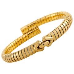 Bvlgari 18 Karat Yellow Gold Tubogas Bracelet