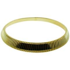 Bvlgari 18 Karat Yellow Gold Tubogas Collection Choker Necklace, circa 1980s