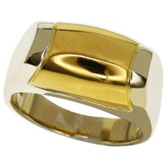 Bvlgari 18 Karat Yellow Gold White Gold Tronket Ring