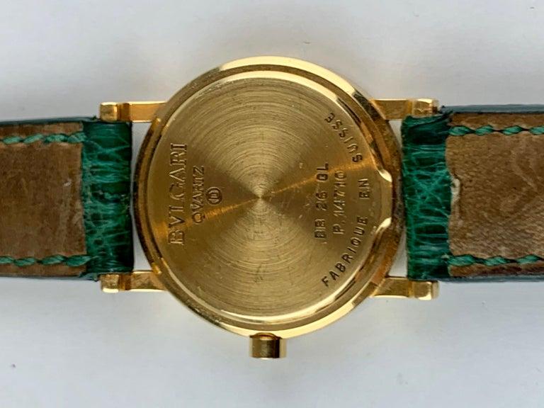 Bvlgari 18 Karat Gold BB 26 GL Watch For Sale 5