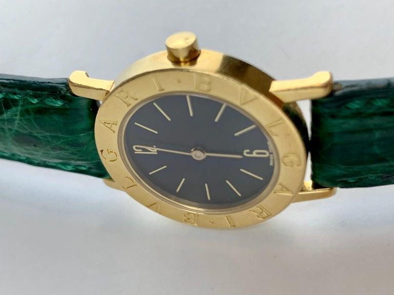 Bvlgari 18 Karat Gold BB 26 GL Watch For Sale 6