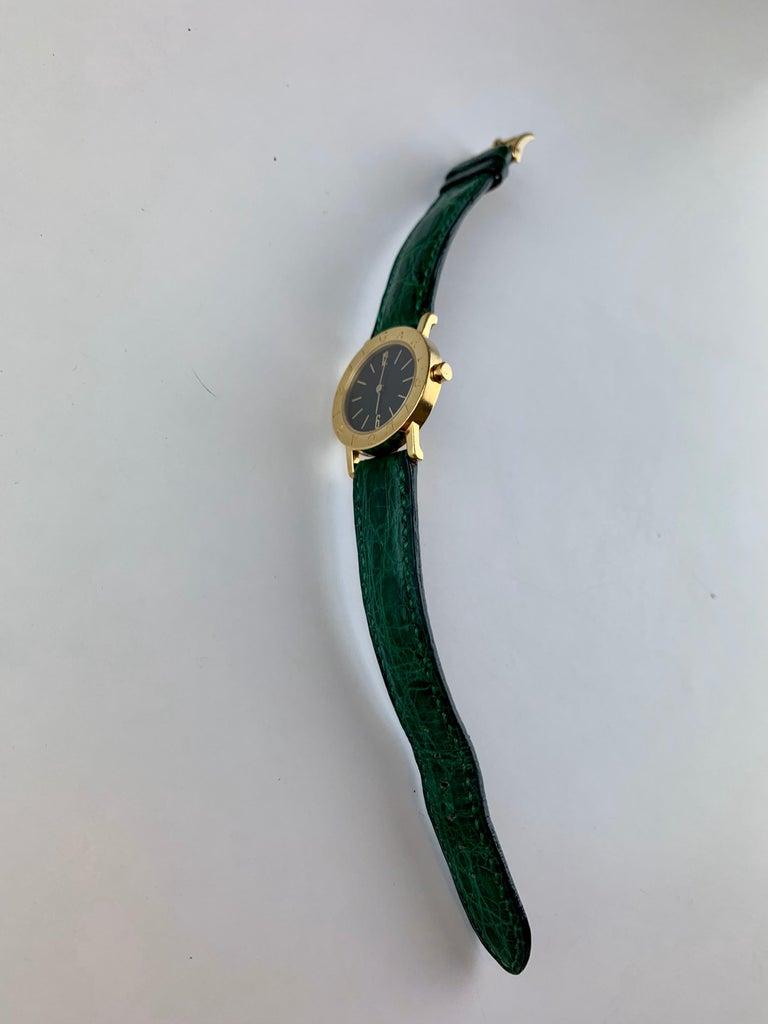 Bvlgari 18 Karat Gold BB 26 GL Watch For Sale 8