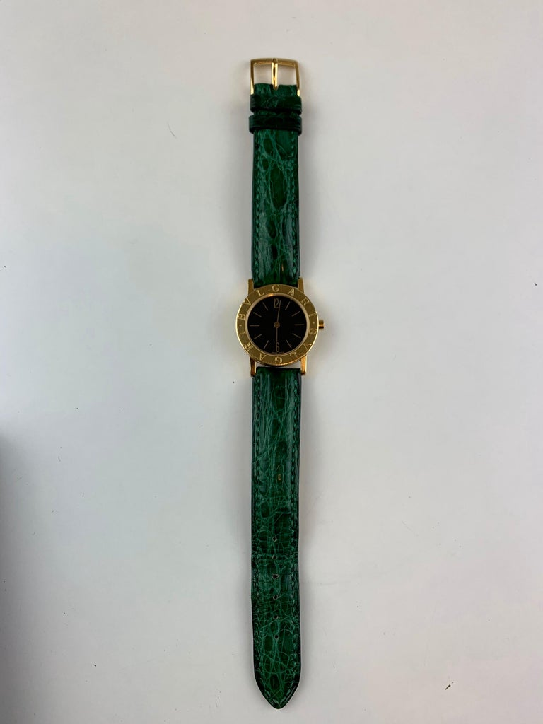 Bvlgari 18 Karat Gold BB 26 GL Watch For Sale 12