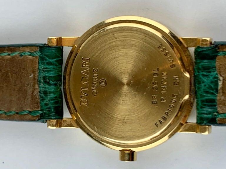 Bvlgari 18 Karat Gold BB 26 GL Watch For Sale 13