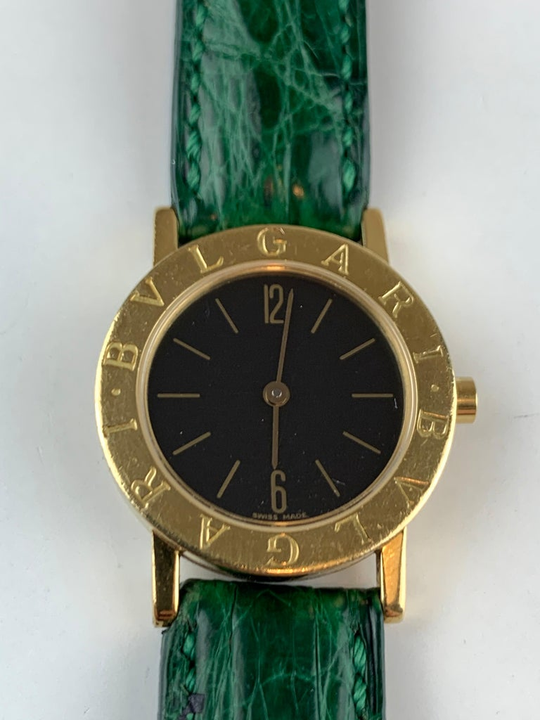 Bvlgari 18 Karat Gold BB 26 GL Watch For Sale 14