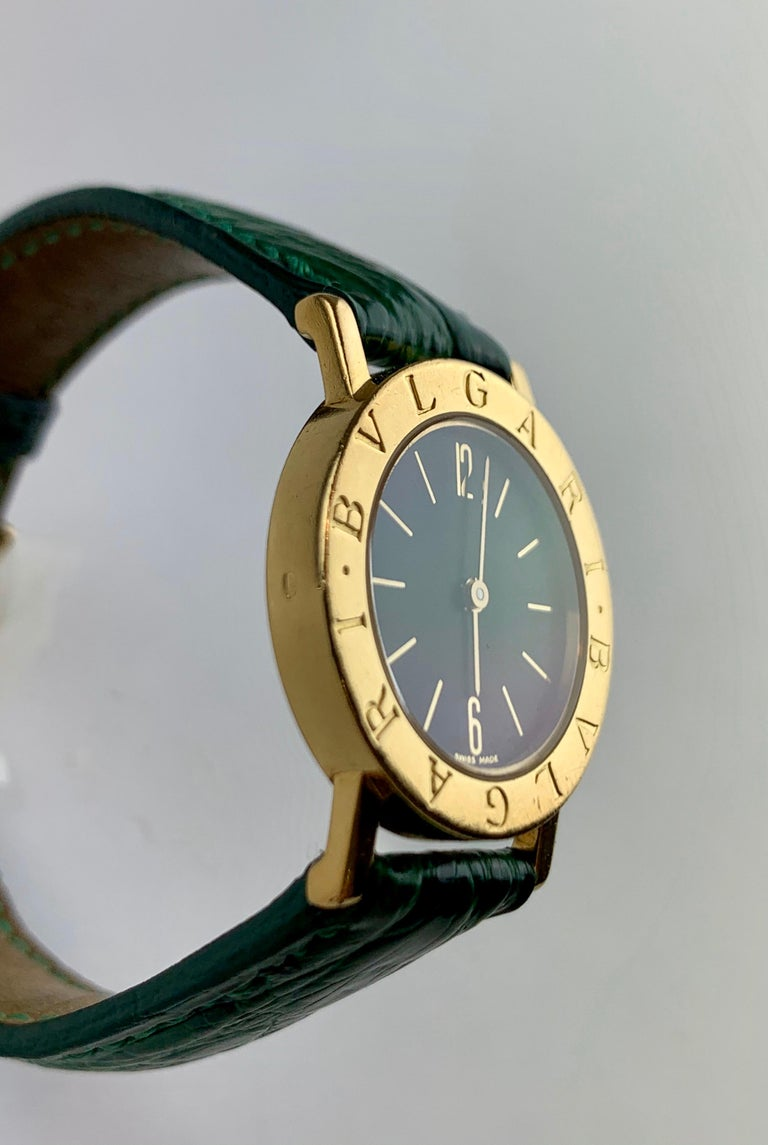 Bvlgari 18 Karat Gold BB 26 GL Watch In Good Condition For Sale In  London, GB