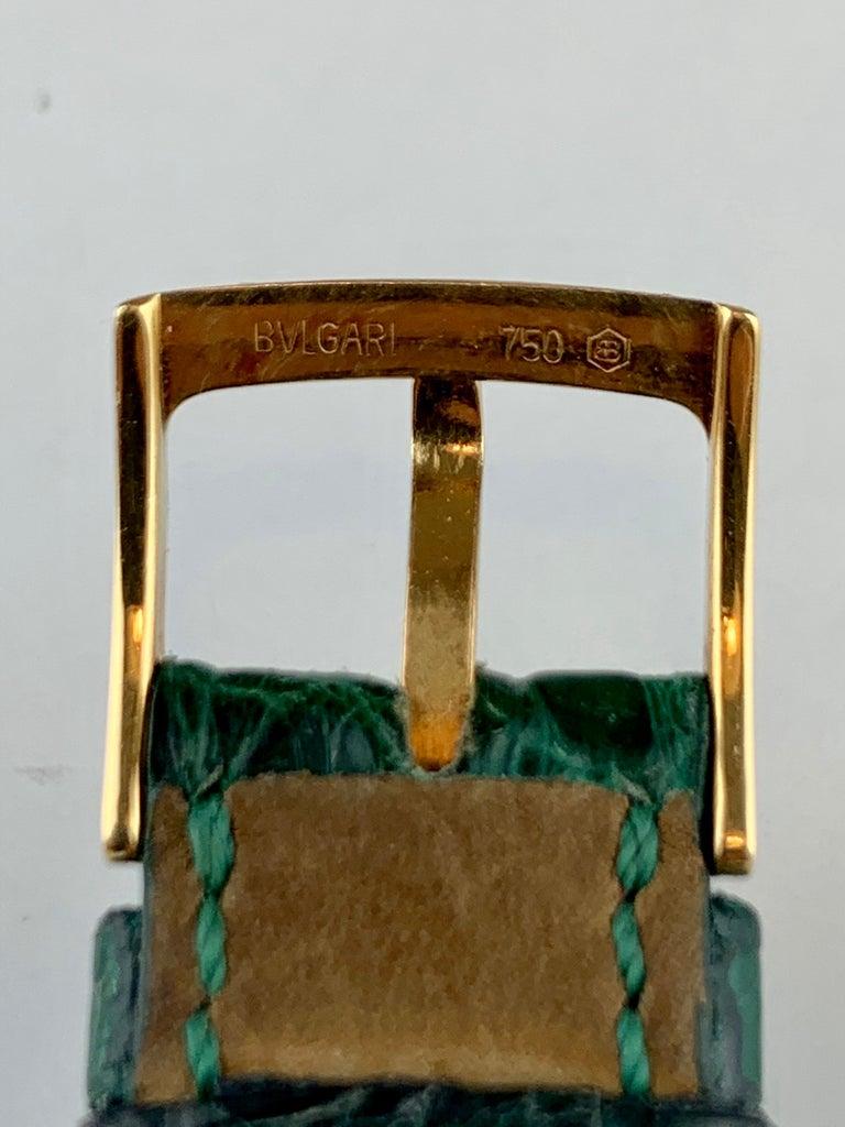 Women's or Men's Bvlgari 18 Karat Gold BB 26 GL Watch For Sale