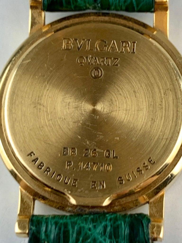 Bvlgari 18 Karat Gold BB 26 GL Watch For Sale 1