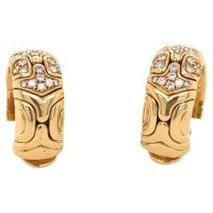 Bvlgari 18k Gold Diamond Earrings